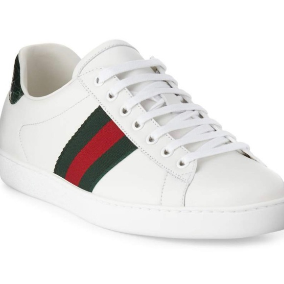 fc4b9da99 Gucci Shoes   Never Worn New Ace Leather Lowtop Sneakers   Poshmark